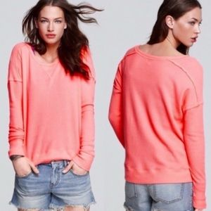 Free People Pink Waffle Knit Thermal Size XS Coral